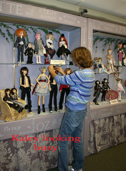 Assorted Dolls on Display