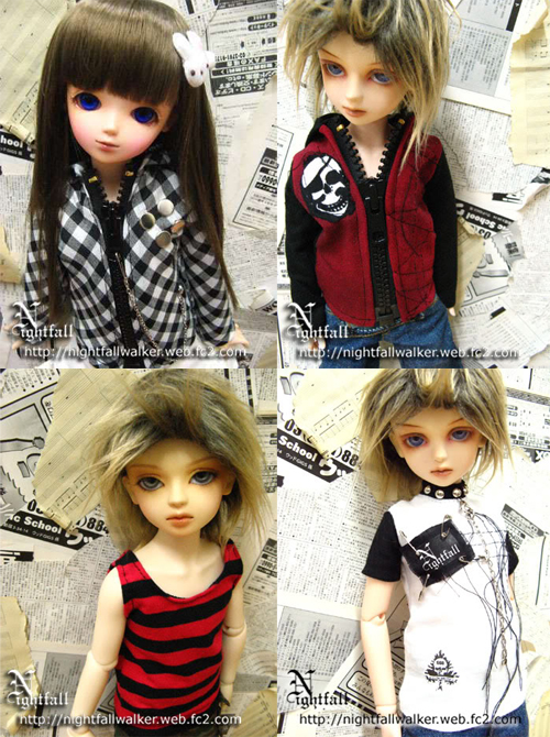 Assorted 1/4 size fashions