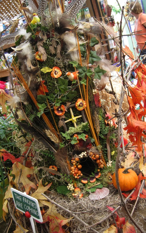 Detail of display set up inside the store