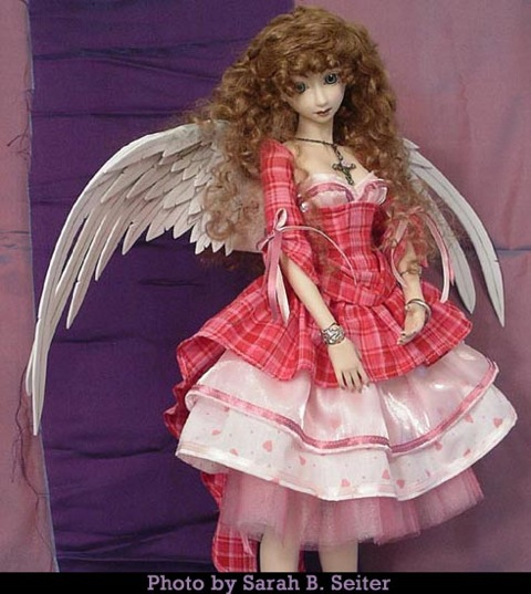 """""""Sweet Valentine"""" customized doll with wings"""