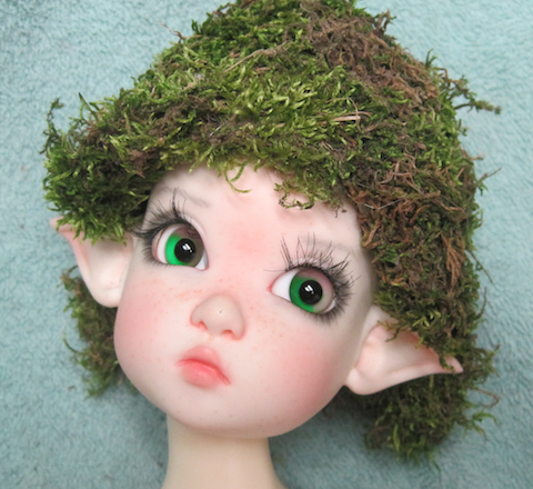 Cap covered with moss