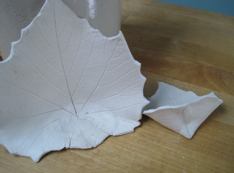 Leaves being sanded. The edges are almost finished.