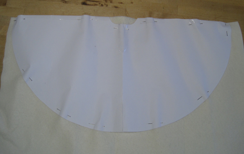 Pattern pinned on the material