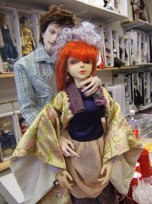 Author's Bishonen House Logan with a  Goodreau Aimee brought to trunk show