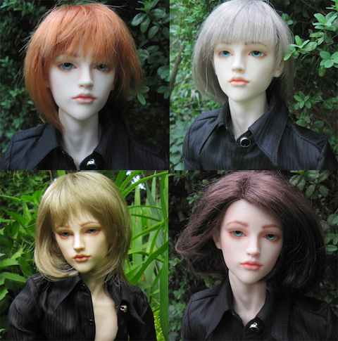 Guilliam in different wig colors