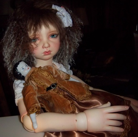 """""""Cathy in Maryland's"""" Nell with face-up by Virginia Obieus (Forever Virginia)"""