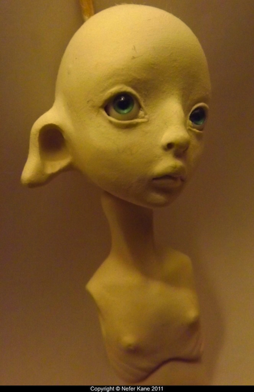Aleah head sculpt in-progress