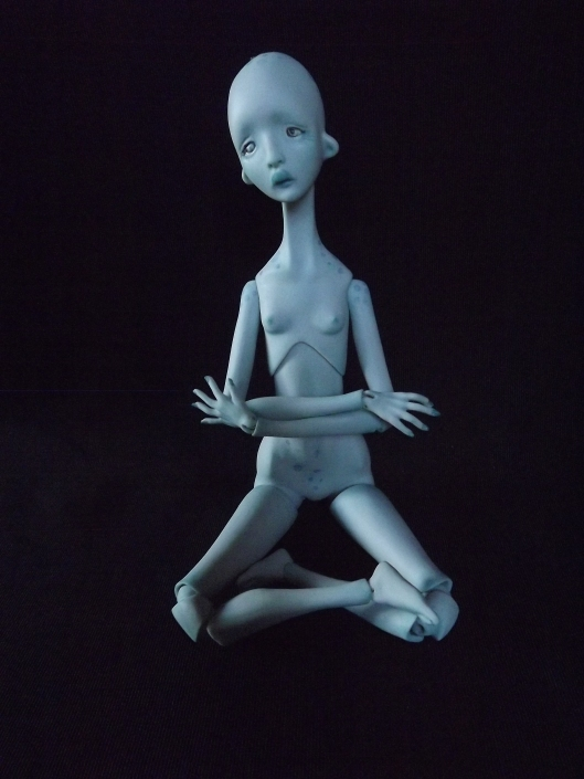 Marlene the blue Alien Princess - porcelain doll