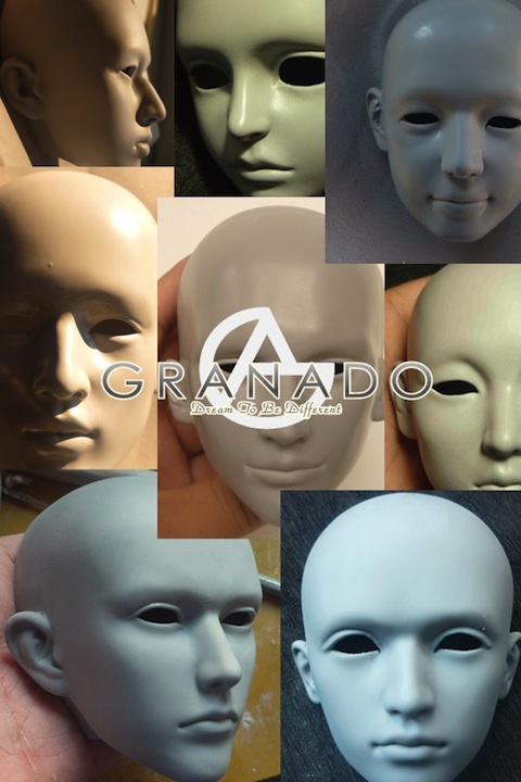 Custom doll heads by the artist