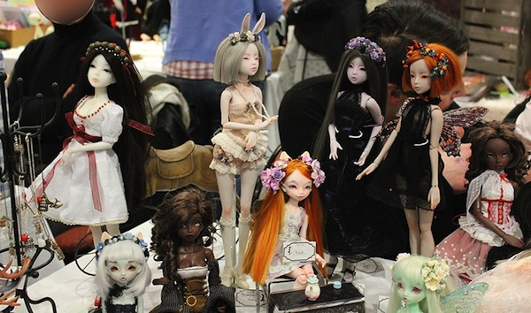Dolls by Delfine & Asella at the Paris Fashion show.