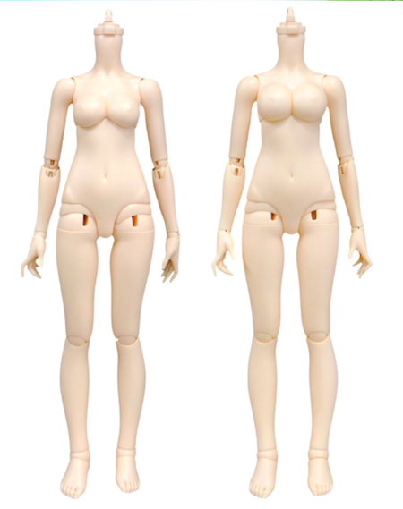 Moe body with Glamour bust (left) and full bust