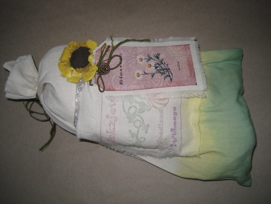 Muslin bag containing the doll