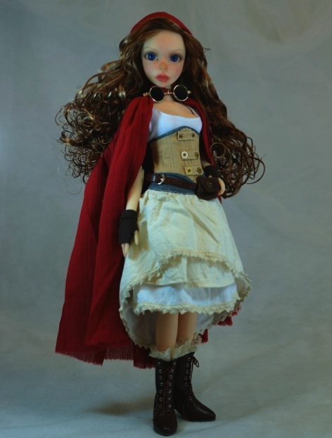 Juliet as Steampunk Red Riding Hood