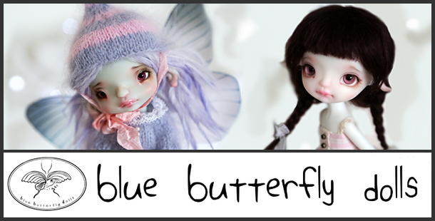 1blue butterfly doll