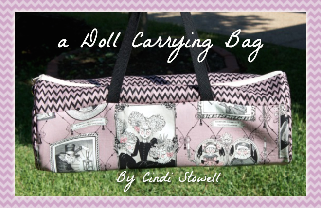 doll carrying bag banner