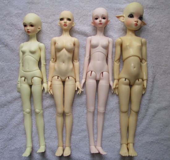 From left: Doll Leaves Vivian, Limhwa Sara, Lillian, Kaye Wiggs' Annabella