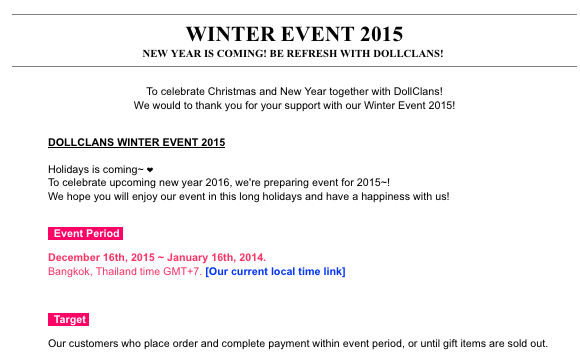 dollclans winter event
