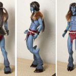 Naoto - ANother Secret Mr Wolf head on Impldoll torso, Mirodoll arms, Dikadoll hands, Soom Chalco thighs, painted blue