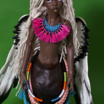 Africa - Doll in Mind Lalia head on modded Impldoll old Star torso + Bataat horse body (painted tan)