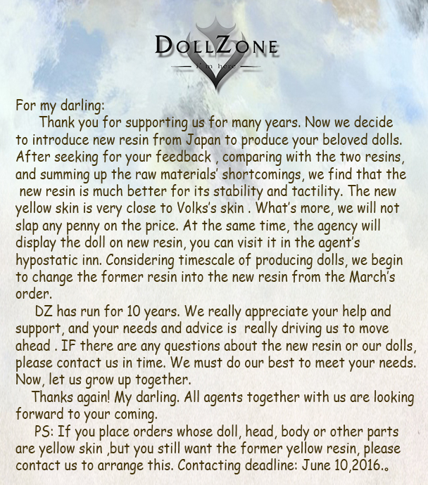 dollzone resin announce